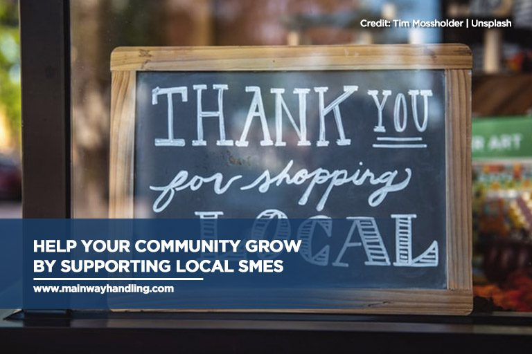 Help your community grow by supporting local SMEs