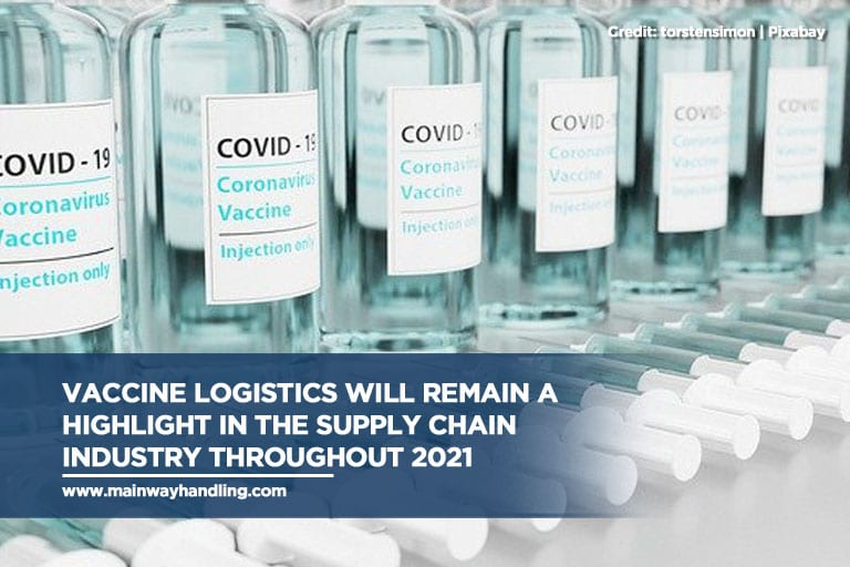 Vaccine logistics will remain a highlight in the supply chain industry throughout 2021